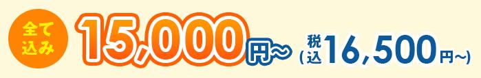 全て込み16,500円(税込)~